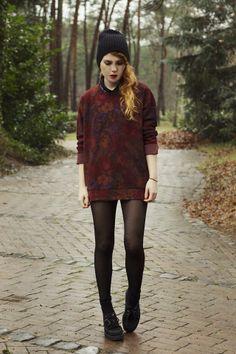 Shop this look on Kaleidoscope (sweater, hat, shoes)  http://kalei.do/WXc2zezaBspFt0IF