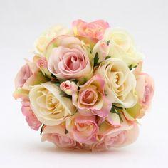 Bruidsboeket in roos en wit