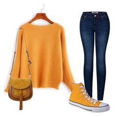 Cozy Sweater Weather by littlelunette on Polyvore featuring 2LUV, Converse and Chloé