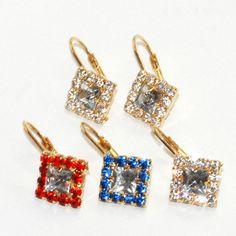 1-1179-D2 Crystal Earrings
