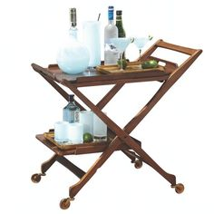 Hemingway Bar Cart w/Removable Top Tray from Studio A Home ($2,500) ❤ liked on Polyvore featuring home and kitchen & dining