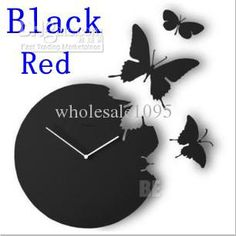 Wholesale Retail - butterfly wall clock/High quality wall clock/Decorative DIY Home decoration nice, Free shipping, $13.58-15.96/Piece | DHgate