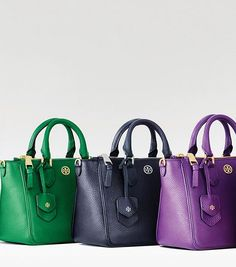 Tory Burch ROBINSON PEBBLED MINI SQUARE TOTE