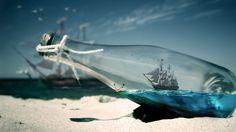 Water Bottle Sea Ships