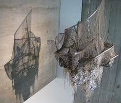 Lee Bul's Sternbau No.3, a chandelier inspired by the unrealised work of architect Bruno Taut.