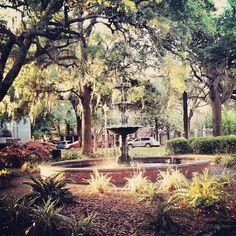 Lafayette Square in Savannah, GA