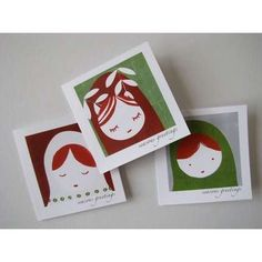 nesting dolls russian sweet holiday cards