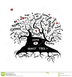 Black tree stock photo image 19649460 surface design What tree represents family