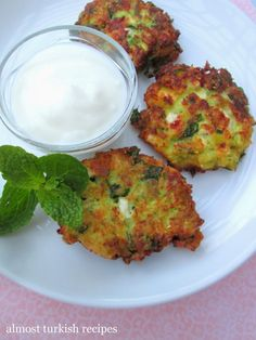 Almost Turkish Recipes/ Leek fritters with feta, mint, parsey