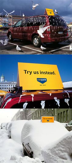 Car Park - Try us instead - Guerilla/Street marketing http://arcreactions.com/