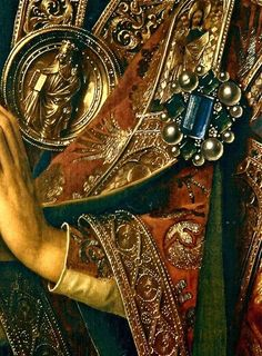 Jan Van Eyck, Ghent Altarpiece (detail, left), early 15th century.