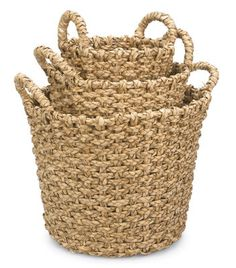 Round Rush Storage Baskets