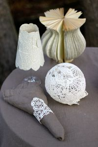 Lace decorations