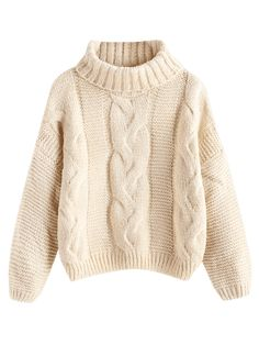 Combining the comfort of a sweater with a stylish look of a cable knit front, this turtlecollar sweater is perfect to wear with the temp begins to drop. It will look great to match with skinny leggings or jeans. Trendy Fashion, Fashion Beauty, Fashion Outfits, Turtleneck Style, Cute Sweaters, Sweater Fashion, Cardigans For Women, Knitwear, Cute Outfits