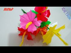 Tree Centerpieces, Paper Flowers, Paper Art, Origami, Diy And Crafts, Projects To Try, Christmas Tree, Embroidery, Sewing