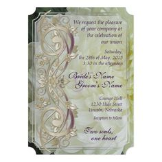 Pearl Scroll & White Chrysanthemum Wedding Invite2