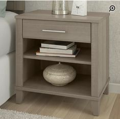 3 Drawer Nightstand, Metal Bar, Tidy Up, Ash Grey, Framing Materials, Bedroom Storage, Open Shelving, All Modern, End Tables