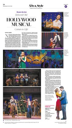 Beloved Old Hollywood Musical Comes to Life|Epoch Times #Theater #newspaper #editorialdesign