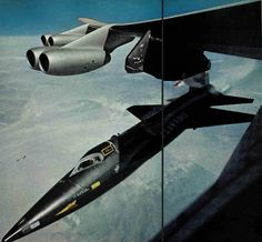 X-15 - Separation in the skys of the Antelope  Valley in the mid 1960's....