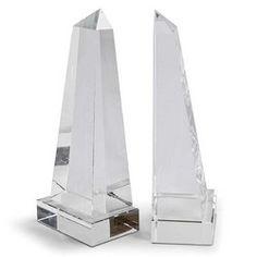 Crystal Obelisk Book Ends Pair #reginaandrew #homedecor #interiors #design #interiorhomescapes #interiorhomescapes.com #interior homescapes
