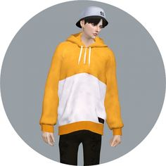 Male Hoodie at Marigold via Sims 4 Updates
