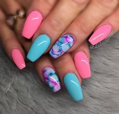 65 summer nail designs that will make you excited for summer 22 elroystores. Summer Acrylic Nails, Best Acrylic Nails, Acrylic Nail Designs, Spring Nails, Nail Summer, Bright Summer Gel Nails, Fancy Nails Designs, Pretty Nails For Summer, Summer Fun