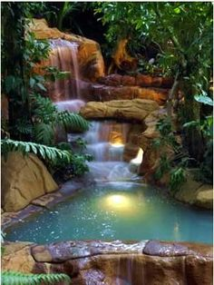 Arenal Hot Springs, Costa Rica.  Going...