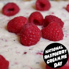 Raspberry Cream Pies, Days And Months, National Holidays, Raspberries, Special Day, Everyday Holidays, Raspberry