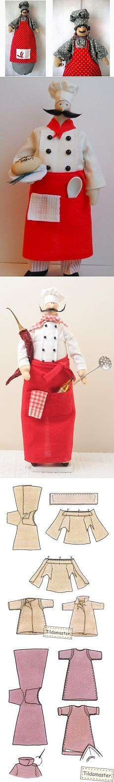 Шьем Тильда повара  Куклы Тильда от Марины Боричевской. Выкройки.