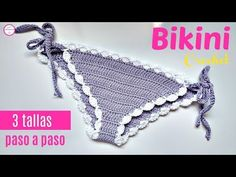 You can learn how to make this modern and comfortable woman's bikini. Very attractive and useful in spring and summer to be visible this gorgeous bikini on your body. Wonderful gift for your lovely people. Bikinis Crochet, Crochet Bikini Pattern, Crochet Patterns, Crochet Ideas, Double Crochet, Crochet Baby, Free Crochet, Knit Crochet, Basic Crochet Stitches