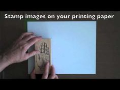 very cool! Monoprinting with Rubber Stamps - Gelli Arts