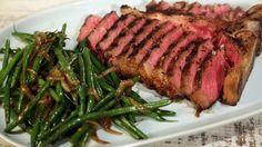 Mario Batali's T-Bone Steak with Green Bean Salad