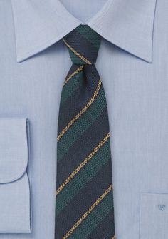 Navy and Green Repp Stripe Wool Tie, $39.90 | Cheap-Neckties.com