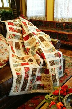 Trifles by Jocelyn Ueng Great Scrappy idea or memory quilt pattern! Jellyroll Quilts, Scrappy Quilts, Easy Quilts, Amish Quilts, Jelly Roll Quilt Patterns, Quilt Block Patterns, Quilt Blocks, Jelly Roll Quilting, Canvas Patterns