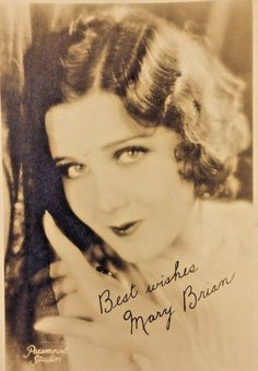 Paramount Studios 1920's Hollywood Star Mary Brian Signed Picture 7x5''