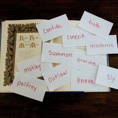 An easy way to teach vocabulary words at home.