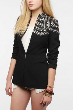 Sister Jane Crystal Shoulder Blazer 195$