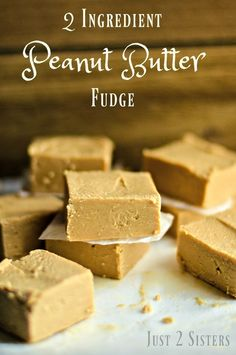2 Ingredient Peanut Butter Fudge is easy and delicious. It's the perfect sweet