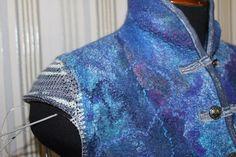 Вязаный рукав для валяного изделия: как присоединить? - Ярмарка Мастеров - ручная работа, handmade