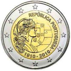 moneda conmemorativa 2 euros Portugal 2010., Tienda Numismatica y Filatelia Lopez, compra venta de monedas oro y plata, sellos españa, accesorios Leuchtturm