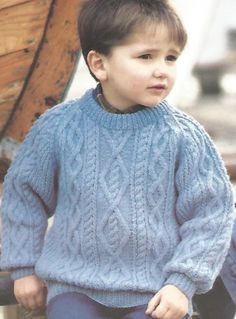 Knitting Patterns Jumper Vintage Knitting Pattern Childs Chunky Cabled Sweater Pullover Raglan aran style Knit jumper pdf d… Toddler Sweater, Knitted Baby Cardigan, Knit Baby Sweaters, Baby Boy Sweater, Cable Sweater, Boys Sweaters, Baby Boy Knitting Patterns Free, Jumper Knitting Pattern, Baby Knitting Patterns