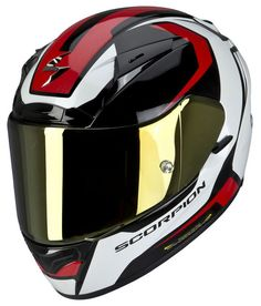 Abbigliamento Moto Full face helmet Scorpion EXO 2000 Mart Black Red White - Technical detail: 4 shell sizes AIRFIT CONCEPT The pump allows the rider to customize the fit of your helmet thanks to the cheek pads mounted on adjustable air cushions , with a complementary sound attenuation . By SCORPION EXO ! Pinlock ® Maxvision Perfectly integrated in the visor , the system Pinlock ® creates an