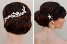 Vintage hair combs from Hair Comes the Bride | via Originální Svatba