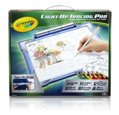Drawing Tablet Toys - Crayola Lightup Tracing Pad Blue Art Tool Bright LEDs Easy Tracing with 1 Pencil 12 Colored Pencils 10 Blank Sheets 10 Tracing Sheets >>> Visit the image link more details.