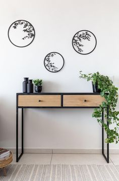 Wall Decor Set, Wall Art Sets, Hanging Plant Wall, Cactus Wall Art, Botanical Wall Art, Botanical Decor, New Home Gifts, Metal Walls, Interior Decorating