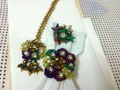 hand made gota n ribban jewelry