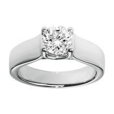 Classic #engagement ring Milano in 950 platinum