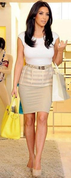 Kim K. Love this outfit!