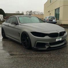 BMW F32 4 series matte grey rain