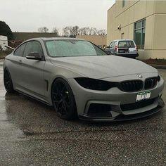 BMW F32 4 series matte grey rain